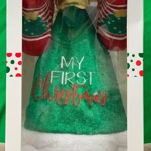 """Other - Baby Hat and Booties Set """"My First Christmas"""""""